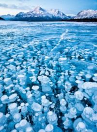 Frozen Bubbles in the Canadian Rockies