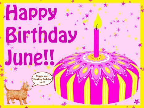 happy birthday june Happy Birthday June!! I Made You A KaleidoCake! | 12 pieces jigsaw  happy birthday june