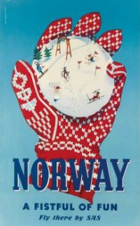 Vintage Winter Travel Posters: Norway