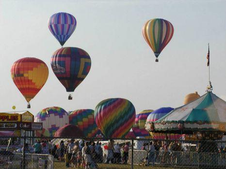 24 Balloon liftoff