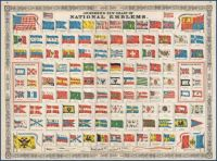 1864 Johnson Chart of the Flags and National Emblems of the World