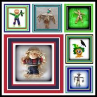 Scarecrows - Colorful Vintage Brooches
