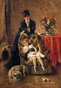 """The Sleeping Child And Dog"""