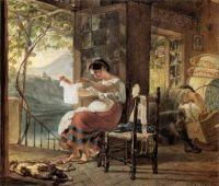Karl Brullov. Italian family (Waiting Child) .1831