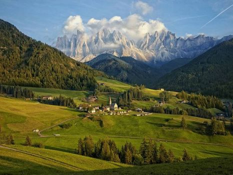 town Dolomite Magdalena Italy