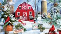 Beautiful Red Christmas barn