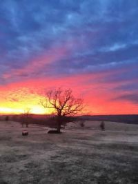Sunset at JAAM Ranch - Poteau, OK