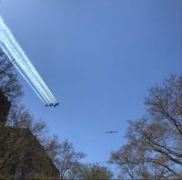 Blue Angels salute to NYC workers today!