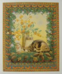 Art - Book - Lesley Anne Ivory Christmas Cats - Sheena & the Lanterns
