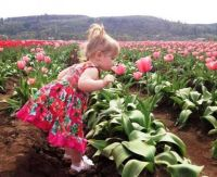 CUTE BABY GIRL WITH THE FLOWERS