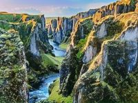 GORGEOUS GREEN MOSSY CANYON