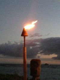 Tiki Torch with Tiki at Luau