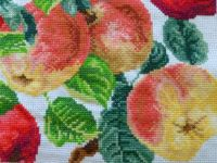 Embroidered apples
