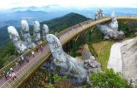 The Golden Bridge in Ba Na Hills resort, Vietnam
