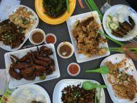 Local Hawker Fare at the East Coast Lagoon Food Center, Singapore