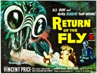 RETURN OF THE FLY - 1959 POSTER  VINCENT PRICE