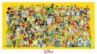 All the characters from The Simpsons