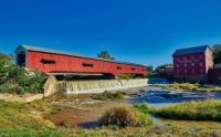 Bridgeton Mill, Dam & Covered Bridge - Bridgeton, Indiana USA