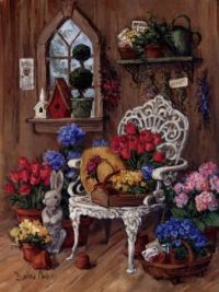 Flowers and Chair