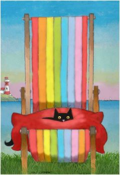 Cat in a Chair by Toni Goffe