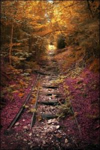 Railroad in the Fall - Lebanon, Missouri