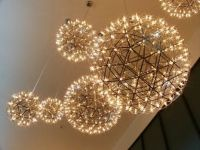 Chandeliers at hotel by Dublin Airport