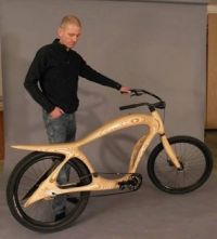 wood frame bike