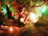 Bear in Canoe Christmas Ornament