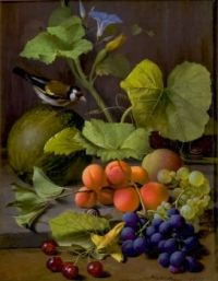 Still Life with Fruits and a Goldfinch