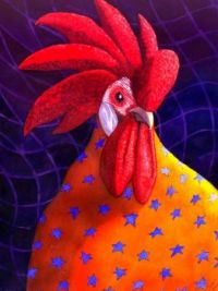 Catherine G McElroy Art - Cock a  doodle Dude!