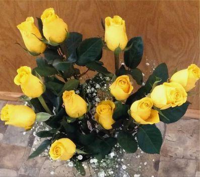 Yellow roses!!