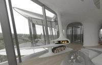 Capital Hill Residence, Moscow, Russia Elevated Master Suite