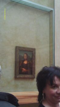 Mona at The Louve, Paris, FR