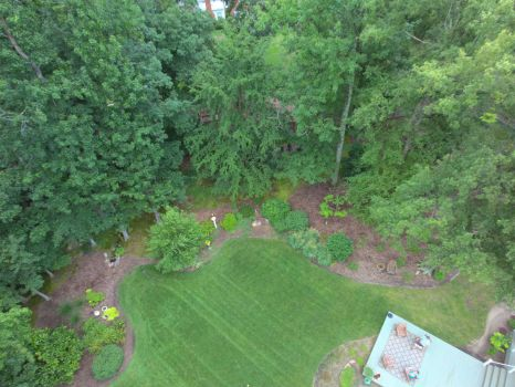 drone photo of back yard