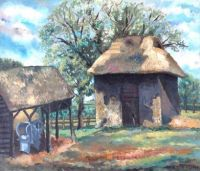 """The Black Barn""-Allan Douglas Davidson"