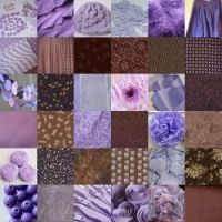 lavender and brown
