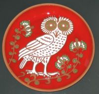 round owl plate
