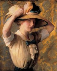 """The Shade Hat"" by Wm. McGregor Paxton"