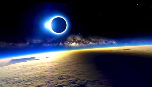 SOLAR ECLIPSE - SEEN FROM SPACE