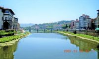 Looking downriver on the Arno, Florence, Italy, July 2007