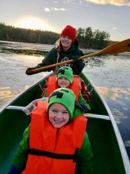 Canoeing with the kids