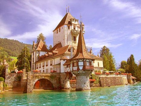 Castle Spiez Lake Thun  Switzerland