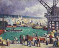 Maximilien Luce (French, 1858–1941), Rouen, Le Port (1913)