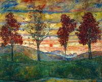 "Egon Schiele's ""Four Trees"""