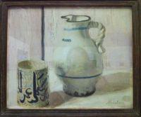 Piet Mondrian Pink still life with jug
