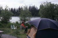 Alaska Trip '87--The Sunflower Veggin' On The Kenai River, Isaak Walton Campground Near Soldatna, Alaska
