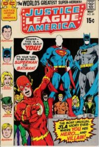 JUSTICE LEAGUE OF AMERICA #89--You Are Hero and Villian !