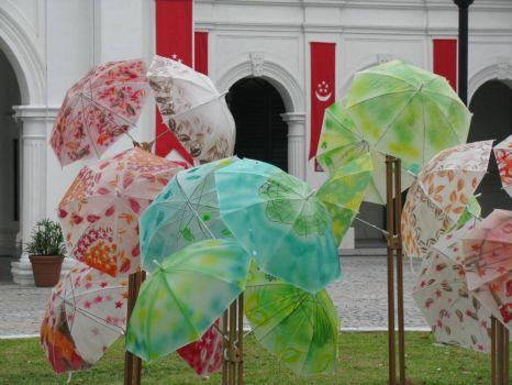 Artful umbrellas