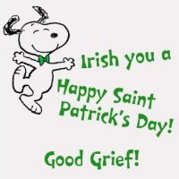 Charlie Brown St. Pats Snoopy 1