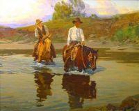 Frank Tenney Johnson (American, 1874–1939), Reflections